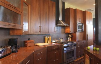 Frameless Overlays, Horizontal Lines, and Natural Beauty Come Together to Create Modern Kitchen Cabinetry
